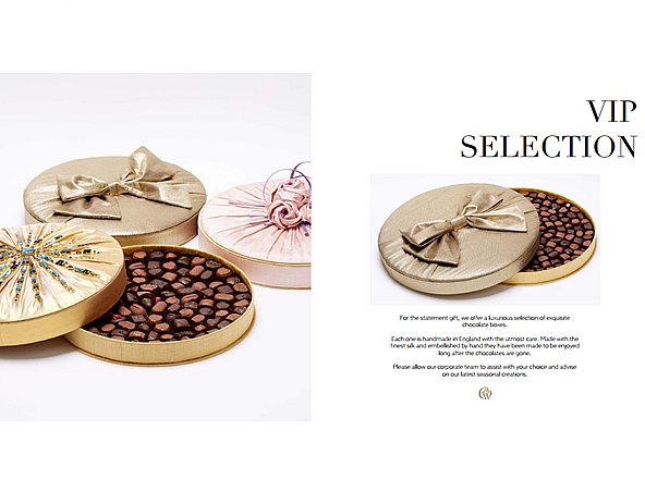 Charbonnel et Walker Corporate Advertising Campaign VIP Couture Silk Chocolate Box Collection