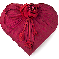 Charbonnel et Walker Valentine's Luxury Dupion Silk Heart Chocolate Box