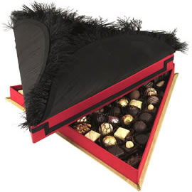Fortnum & Mason Christmas Lord Mayor's Show Tricorn Hat Silk Chocolate Box